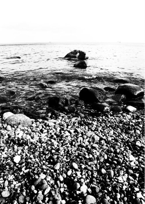 Steine Greeting Card featuring the photograph Stones At The Sea by Falko Follert