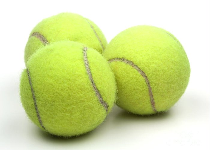 Tennis Ball Greeting Card featuring the photograph Tennis Balls by Blink Images