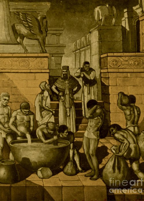 Babylon Greeting Card featuring the photograph The Art Of Brewing, Babylon by Science Source