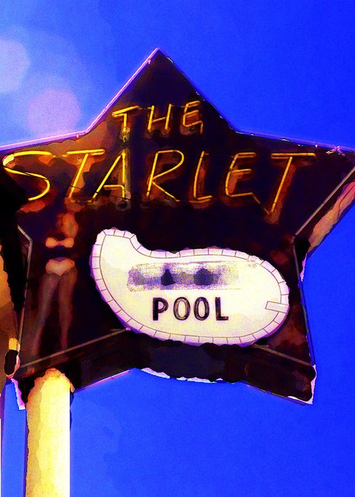 The Starlet Greeting Card featuring the photograph The Starlet by Ron Regalado