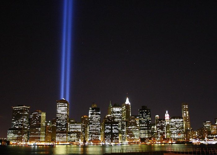 Wtc Greeting Card featuring the photograph Tribute In Light 2010 by Christopher Kirby