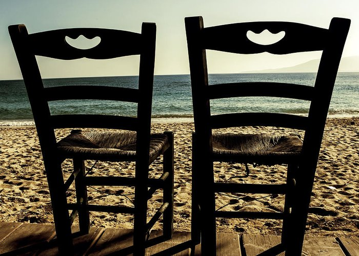 Chair Greeting Card featuring the photograph Two Chairs by Joana Kruse