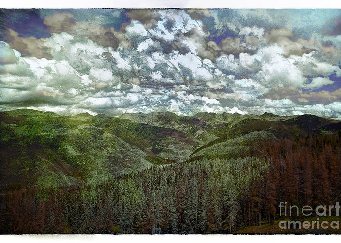 Vale Greeting Card featuring the photograph Vail Vista by Madeline Ellis