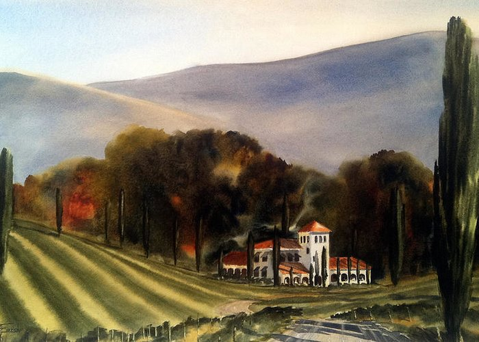 Greeting Card featuring the painting Vintage Year by Don F Bradford