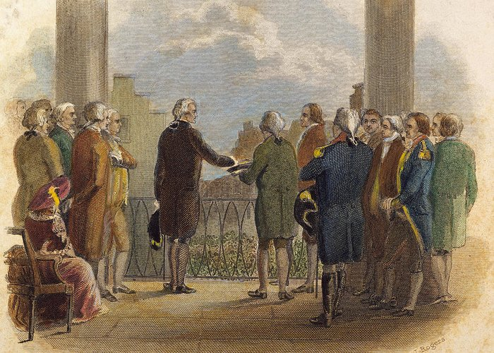 1789 Greeting Card featuring the photograph Washington: Inauguration by Granger