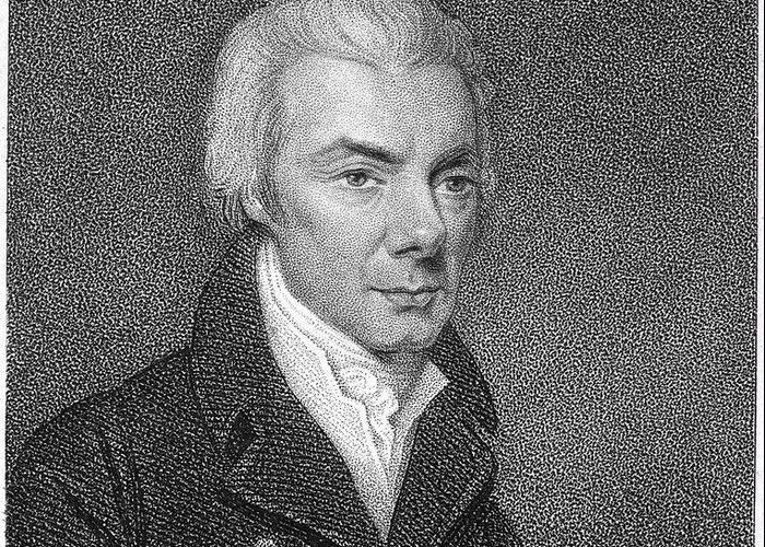 18th Century Greeting Card featuring the photograph William Wilberforce by Granger