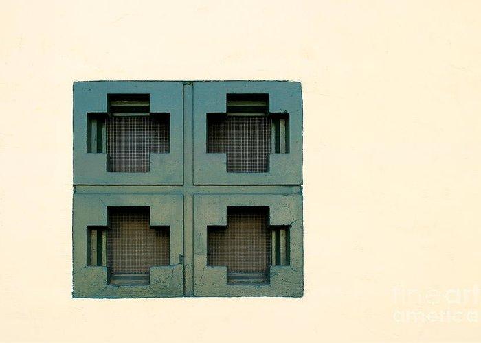 Ventura Greeting Card featuring the photograph Windows by Henrik Lehnerer