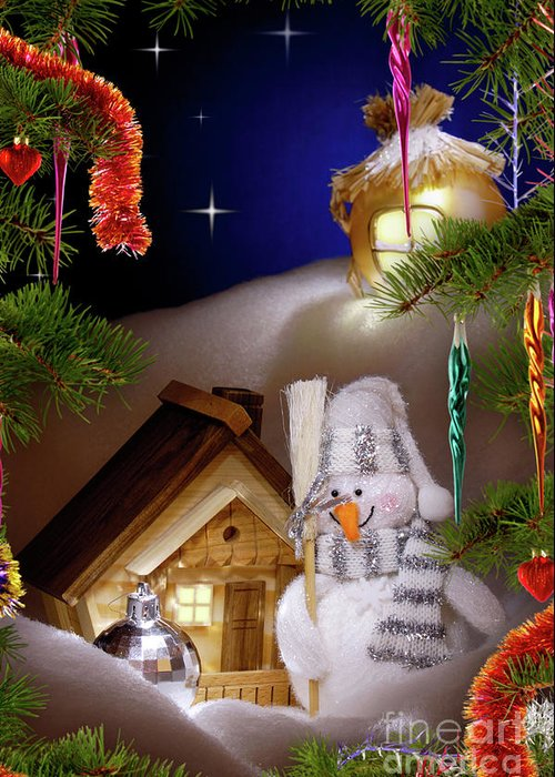 Christmas Greeting Card featuring the photograph Wonderful Christmas Still Life by Oleksiy Maksymenko