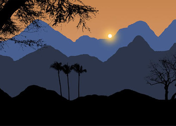 Mountains Greeting Card featuring the photograph 2034 by Peter Holme III
