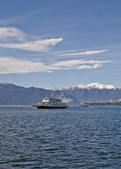 Lago Maggiore Greeting Card featuring the photograph Lake Maggiore by Joana Kruse