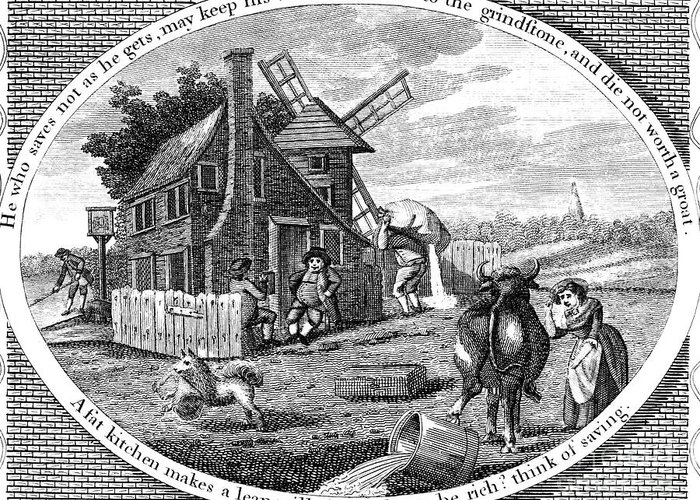 1795 Greeting Card featuring the photograph Poor Richard Illustrated by Granger