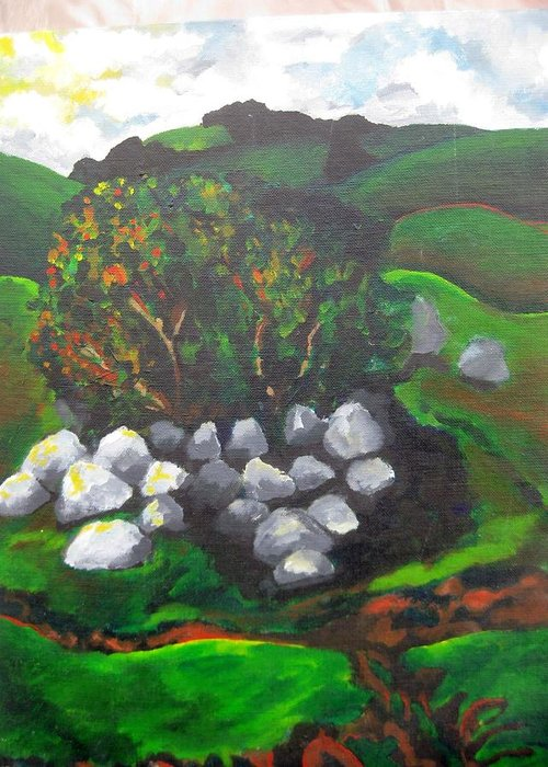 Spring Greeting Card featuring the painting Untitled by Iris Gill