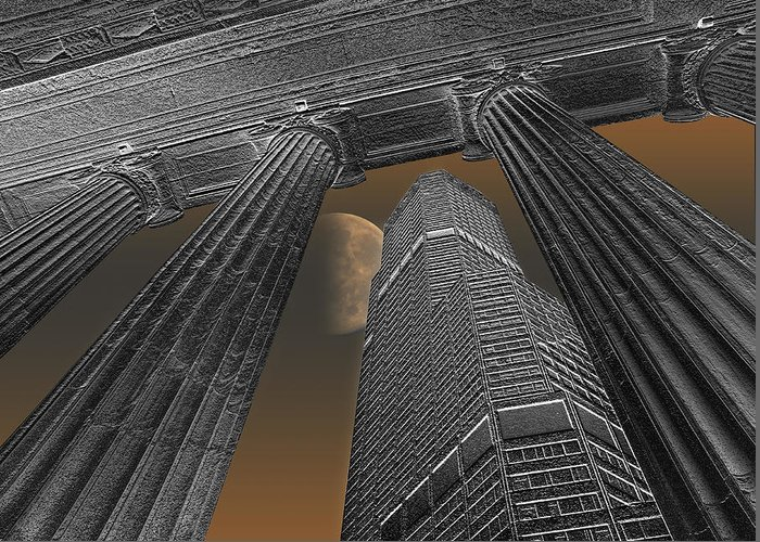 City Greeting Card featuring the photograph 2400 by Peter Holme III
