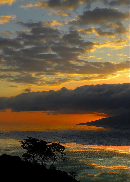 Sunset Greeting Card featuring the photograph 2436 by Peter Holme III