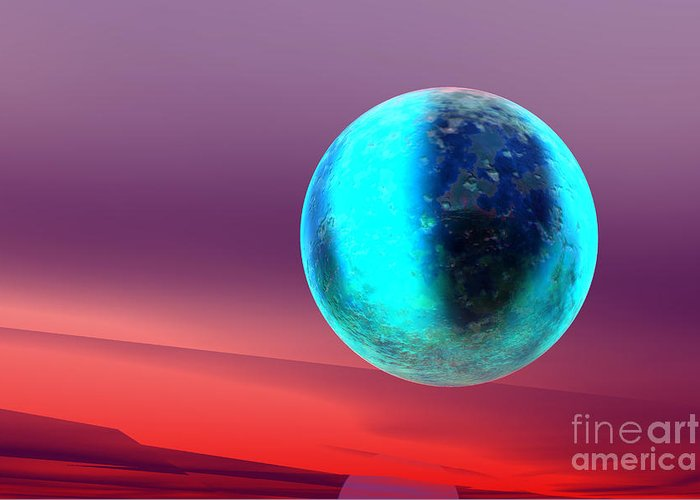 Nature Greeting Card featuring the digital art Planet by Odon Czintos