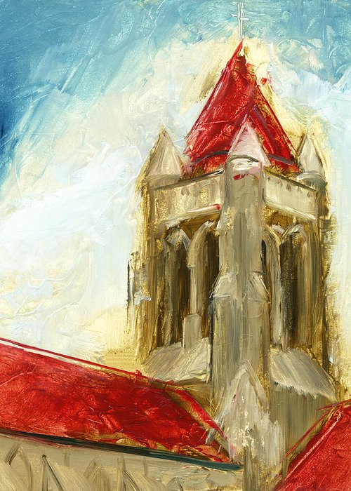 Church Greeting Card featuring the painting Rcnpaintings.com by Chris N Rohrbach