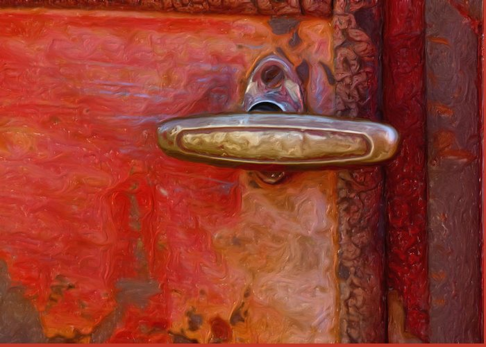 Handle Greeting Card featuring the photograph 29 International Truck Handle by Jack Zulli