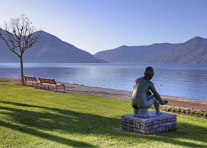 Sculpture Greeting Card featuring the photograph Ascona - Lake Maggiore by Joana Kruse