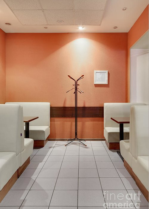 Art Greeting Card featuring the photograph Cafe Dining Room by Magomed Magomedagaev