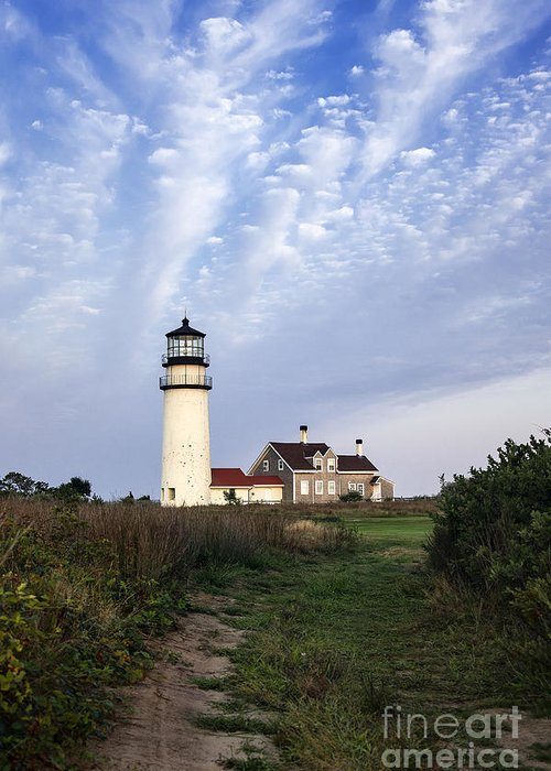New England Greeting Card featuring the photograph Cape Cod Light by John Greim
