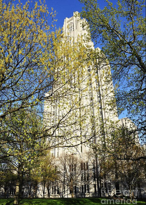 Cathedral Of Learning Greeting Card featuring the photograph Cathedral Of Learning by Thomas R Fletcher