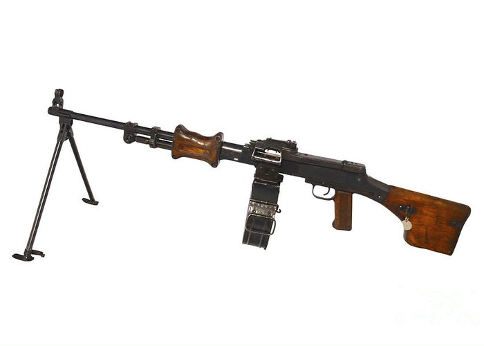 Single Object Greeting Card featuring the photograph Chinese Type 56 Light Machine Gun by Andrew Chittock