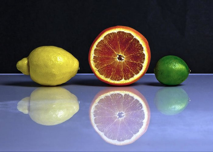 Citrus Fruits Greeting Card featuring the photograph Citrus Fruits by Joana Kruse