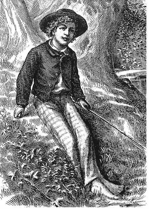 1876 Greeting Card featuring the photograph Clemens: Tom Sawyer by Granger