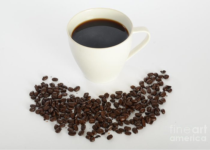 Awake Greeting Card featuring the photograph Coffee by Photo Researchers, Inc.