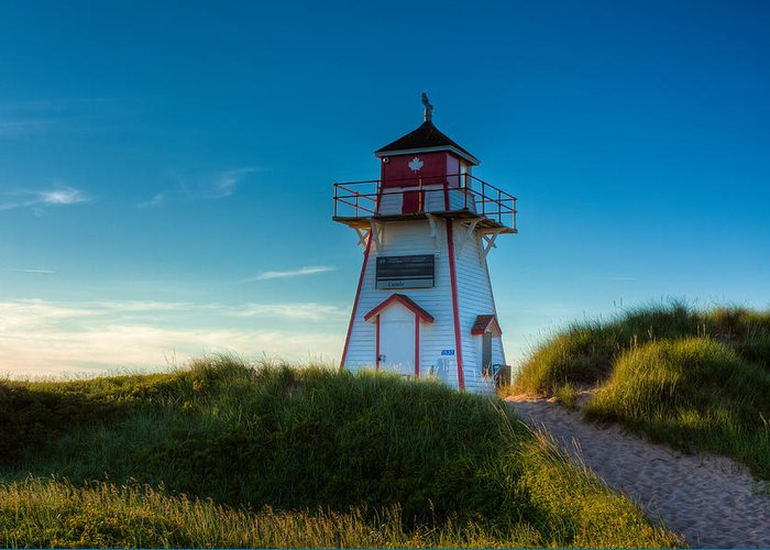 Lighthouse Greeting Card featuring the photograph Cove Head Lighthouse by Matt Dobson