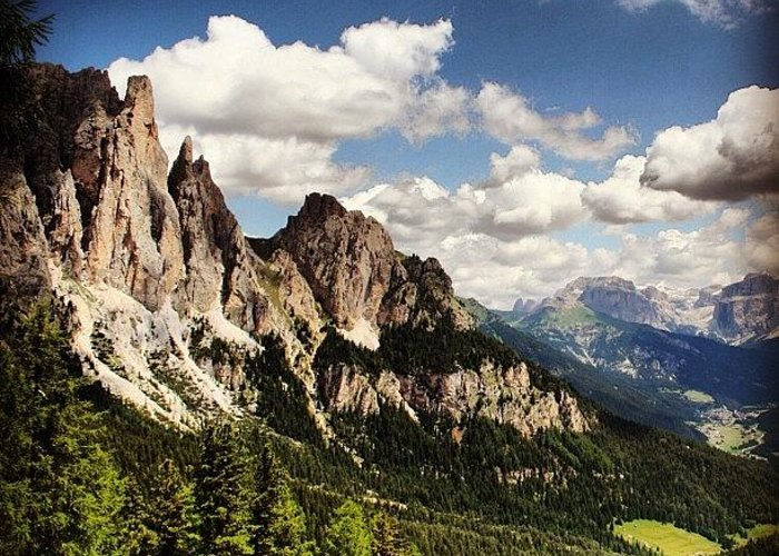 Mountain Greeting Card featuring the photograph Dolomites by Luisa Azzolini