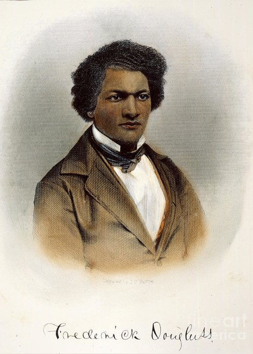 1854 Greeting Card featuring the photograph Frederick Douglass by Granger
