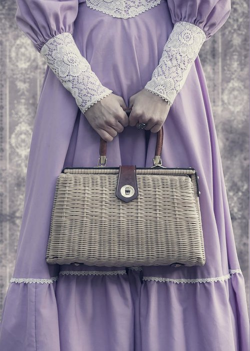 Woman Greeting Card featuring the photograph Handbag by Joana Kruse