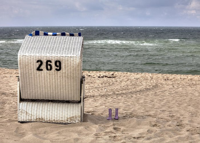 Beach Chair Greeting Card featuring the photograph Hoernum - Sylt by Joana Kruse