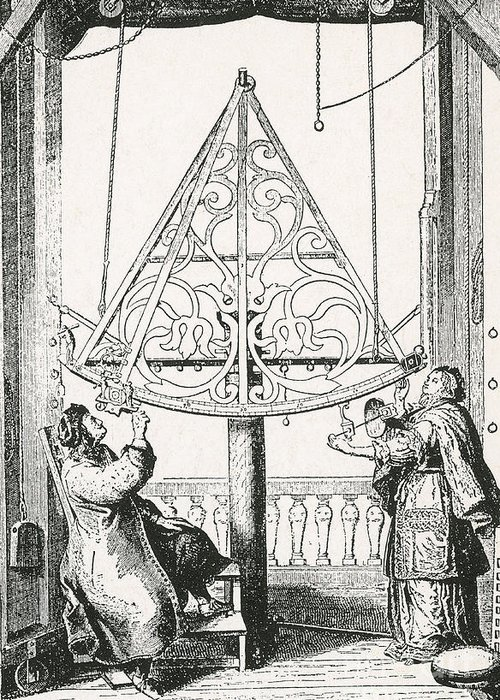 Science Greeting Card featuring the photograph Johannes Hevelius, Polish Astronomer by Science Source