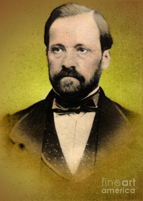 History Greeting Card featuring the photograph Louis Pasteur, French Chemist by Science Source