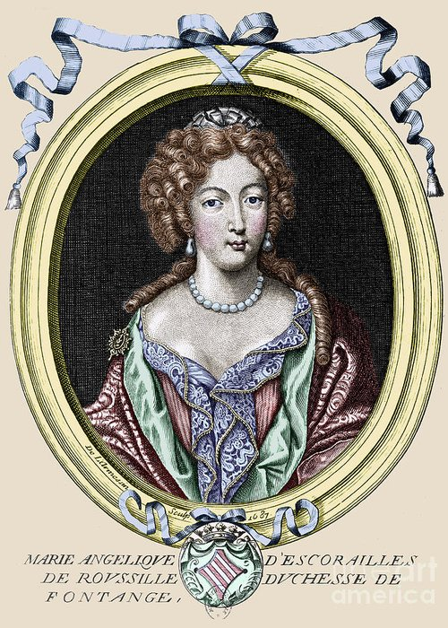 1687 Greeting Card featuring the photograph Marie-ang�lique De Rousille by Granger