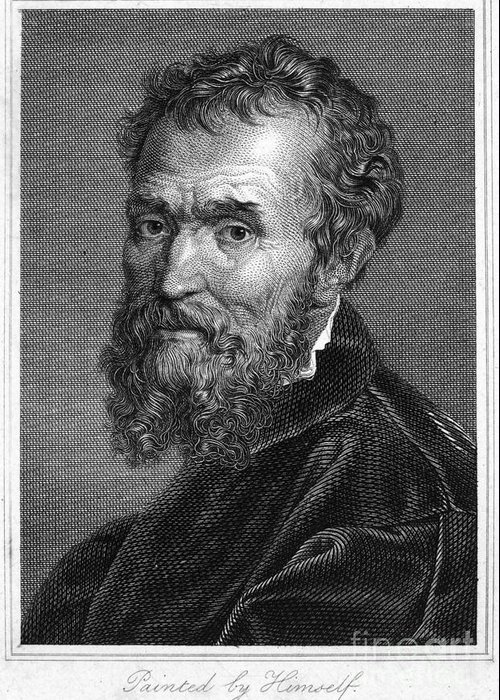 15th Century Greeting Card featuring the photograph Michelangelo (1475-1564) by Granger