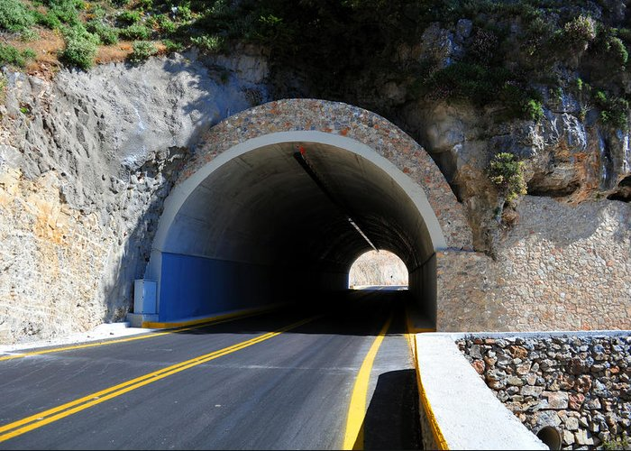 Mountain Greeting Card featuring the photograph Mountain Tunnel. by Fernando Barozza