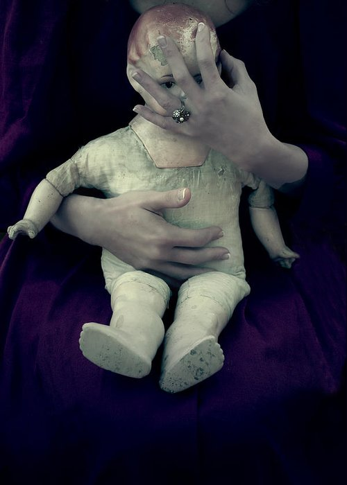 Woman Greeting Card featuring the photograph Old Doll by Joana Kruse