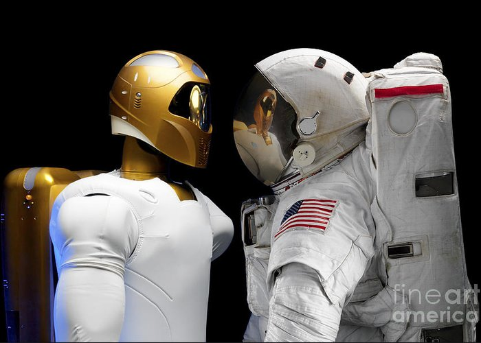 Robot Greeting Card featuring the photograph Robonaut 2, A Dexterous, Humanoid by Stocktrek Images