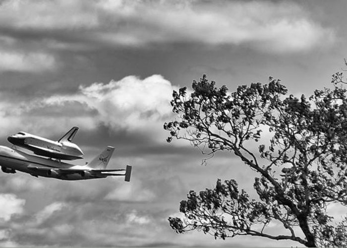 Shuttle Enterprise Greeting Card featuring the photograph Shuttle Enterprise by Roni Chastain