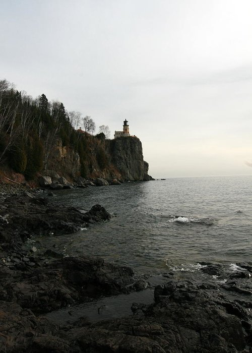 Lighthouse Greeting Card featuring the photograph Split Rock Lighthouse by Rick Rauzi