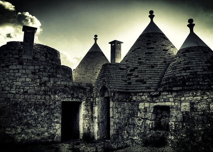 Roof Greeting Card featuring the photograph Trulli by Joana Kruse