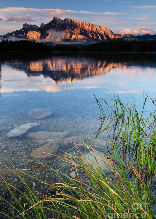 Alberta Greeting Card featuring the photograph Two Jack Lake by Ginevre Smith