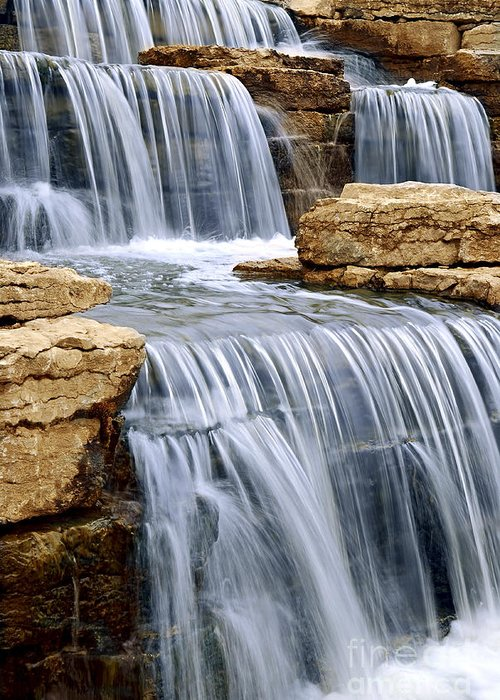 Waterfall Greeting Card featuring the photograph Waterfall by Elena Elisseeva