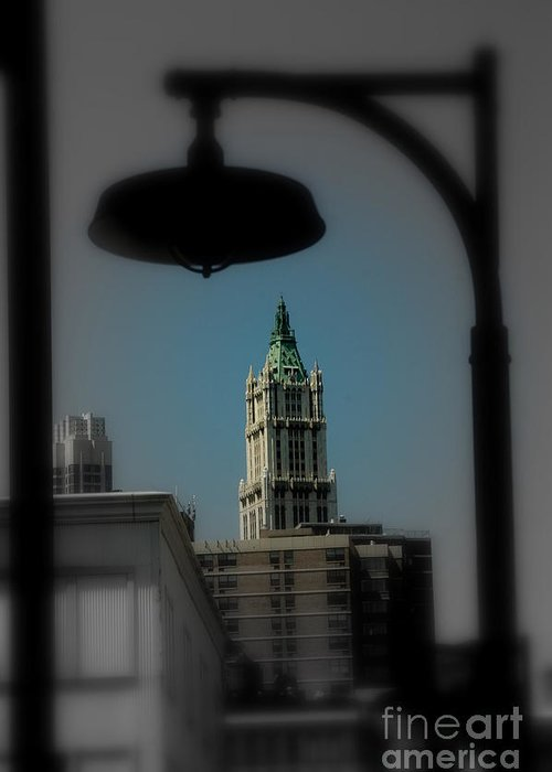 Digital Designs Greeting Card featuring the photograph Woolworth Building by Mark Gilman