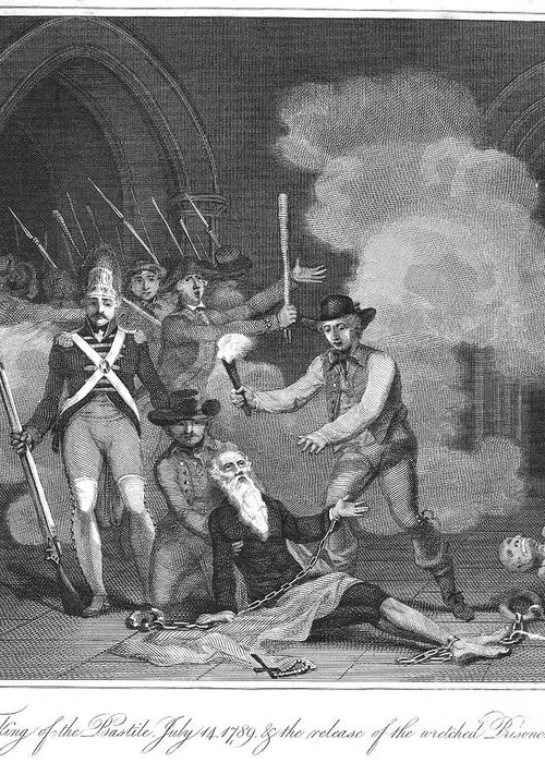 1789 Greeting Card featuring the photograph French Revolution, 1789 by Granger