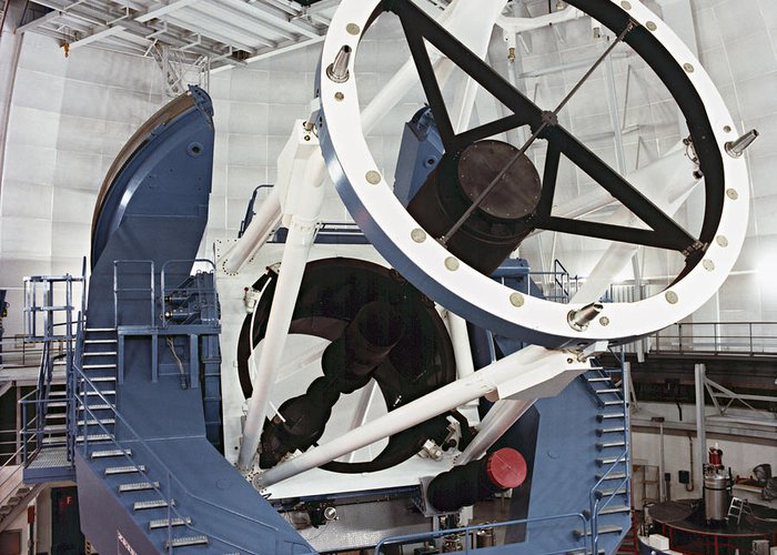 Telescope Greeting Card featuring the photograph 3.5-metre Optical Telescope by Eckhard Slawik