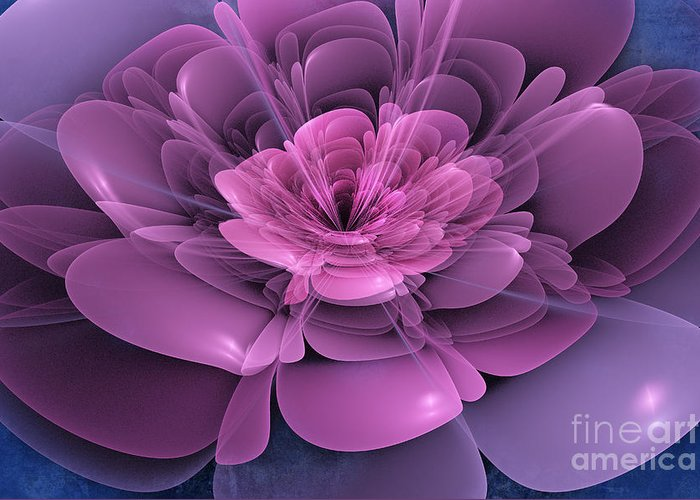 Flower Greeting Card featuring the digital art 3d Flower by John Edwards